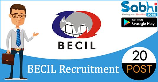 BECIL recruitment 20 Data Entry Operator