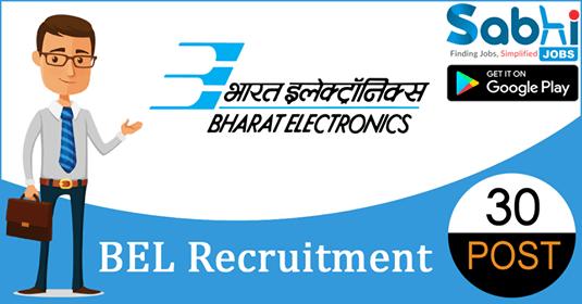 BEL recruitment 30 Contract Engineer
