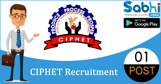 CIPHET recruitment 2018-19 notification apply for 01 Field Assistant