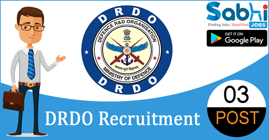 DRDO recruitment 03 Junior Research Fellows