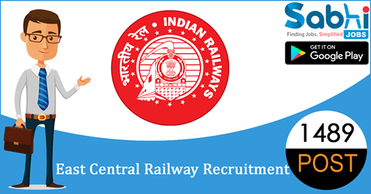 East Central Railway recruitment 1489 Gateman
