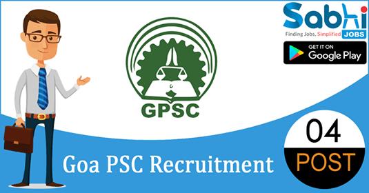 Goa PSC recruitment 04 Assistant Professors, Associate Professor