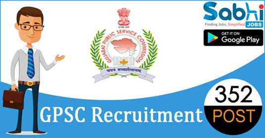 GPSC recruitment 352 Principal, Veterinary Officer