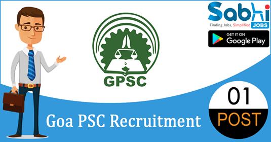 Goa PSC recruitment 2018-19 notification apply for 01 Junior Assistant