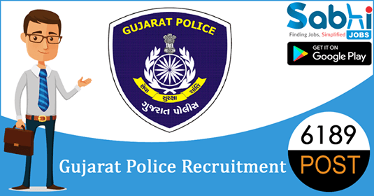 Gujarat Police recruitment 6189 Unarmed Constable, Armed Constable