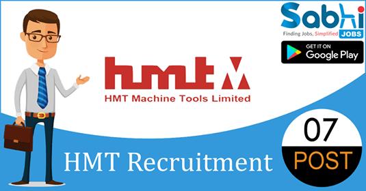 HMT recruitment 07 Associates