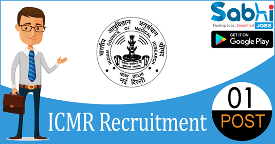 ICMR recruitment 2018-19 notification apply for 1 Junior Research Fellow