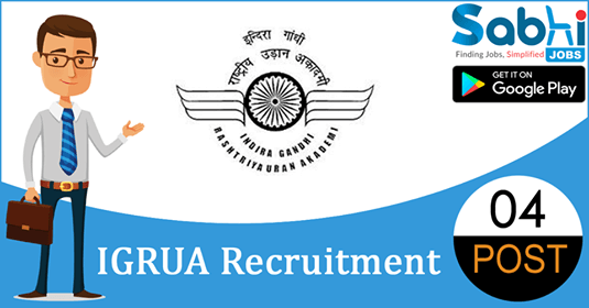 IGRUA recruitment 2018-19 notification apply for 04 Assistant Flight Instructor