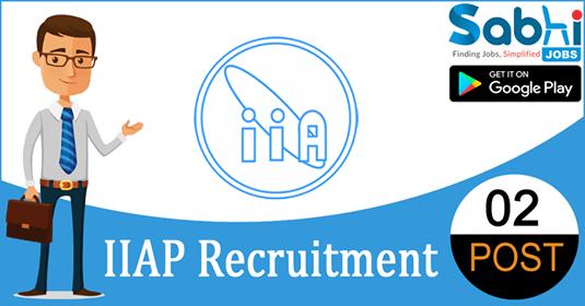 IIAP recruitment 02 Library Trainee