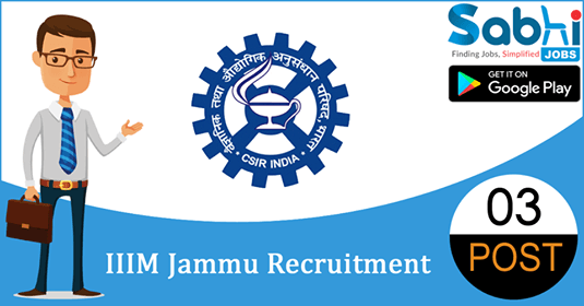 IIIM Jammu recruitment 2018-19 notification apply for 03 Consultants