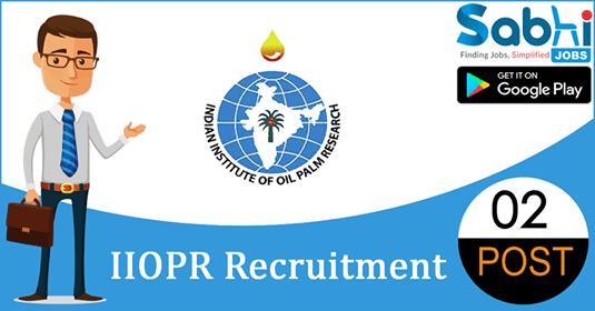 IIOPR recruitment 02 Research Associate, Young Professional-II
