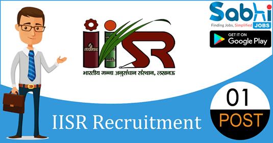 IISR recruitment 01 Young Professional-I
