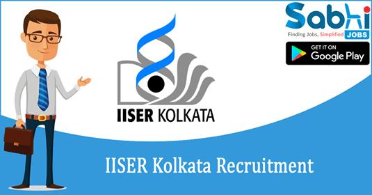 IISER Kolkata recruitment 2018-19 notification apply for Junior Assistant