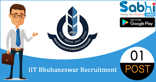 IIT Bhubaneswar recruitment 01 Project Scientist