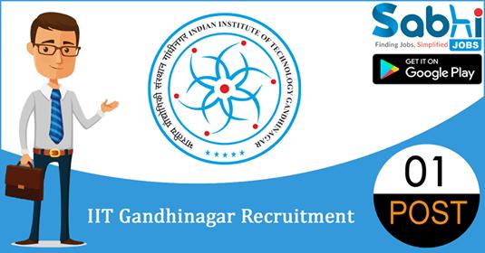 IIT Gandhinagar recruitment 01 Project Assistant