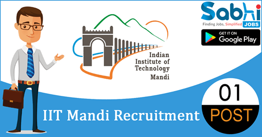 IIT Mandi recruitment 01 Registrar