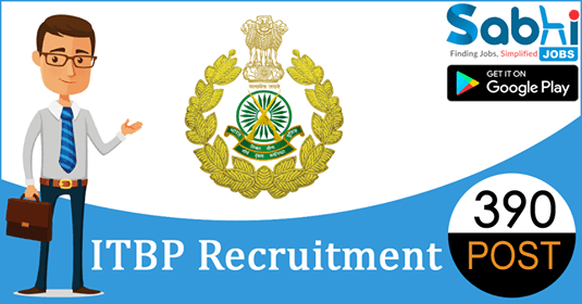 ITBP recruitment 390 Sub-Inspector, Head Constable