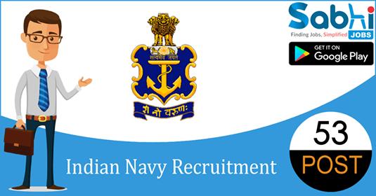 Indian Navy recruitment 53 Multi Tasking Staff