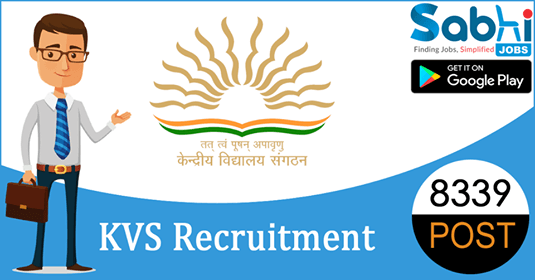 KVS recruitment 8339 TGT, Primary Teacher