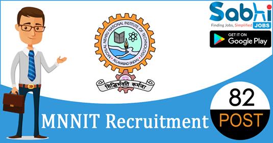 MNNIT recruitment 82 Technical Manpower, Academic Support Staff