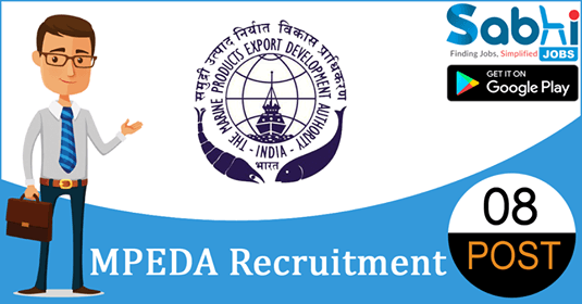 MPEDA recruitment 2018-19 notification apply for 08 Trainee Analyst