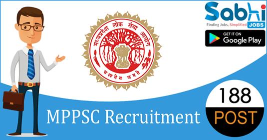 MPPSC recruitment 188 Veterinary Assistant Surgeon