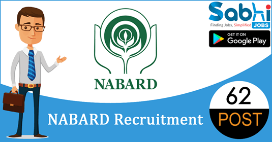 NABARD recruitment 2018-19 notification apply for 62 Development Assistant