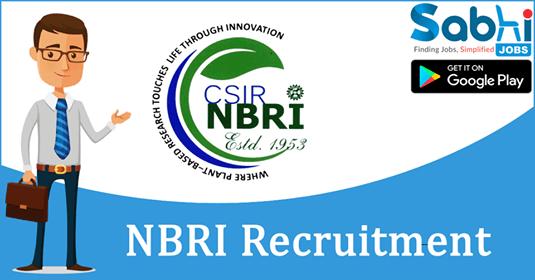 NBRI recruitment IT Officer