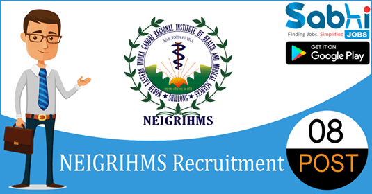 NEIGRIHMS recruitment 08 Research Assistant, Field Worker, Multi-Tasking Staff