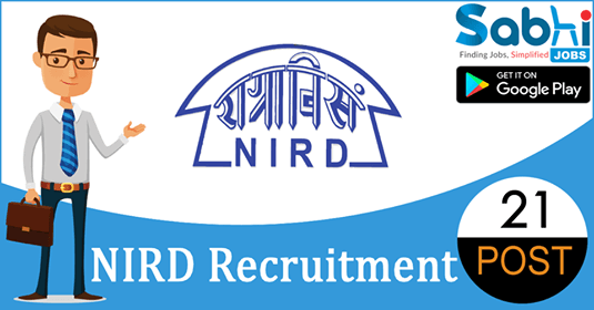 NIRD recruitment 21 Project Scientists
