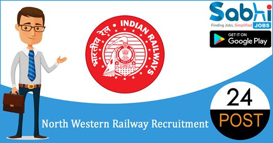 North Western Railway recruitment 24 Senior Technical Associate