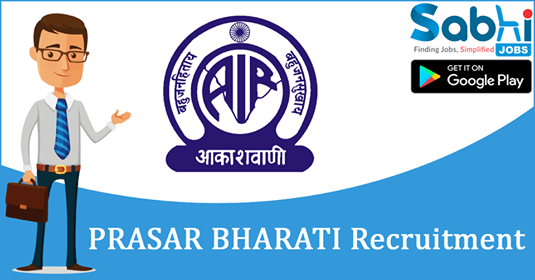 Prasar Bharati recruitment 2018-19 notification apply for Sales Executives