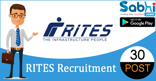 RITES recruitment 30 Deputy General Manager, Site Engineer