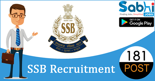 SSB recruitment 181 SI, Head Constable