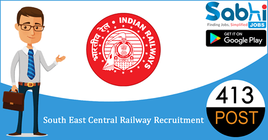 South East Central Railway recruitment 413 Apprentice