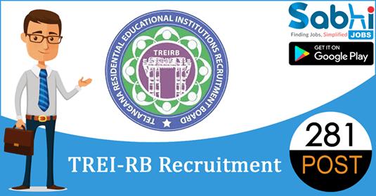 TREI-RB recruitment 281 Junior Lecturer