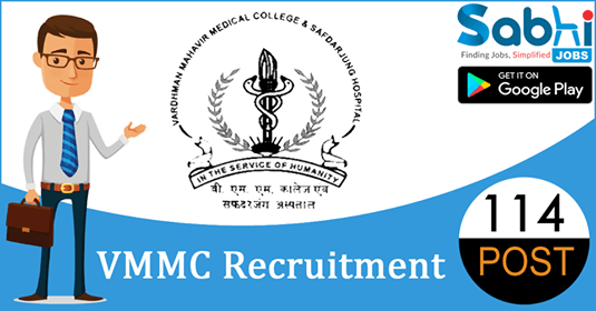 VMMC recruitment 2018-19 notification apply for 114 Junior Residents
