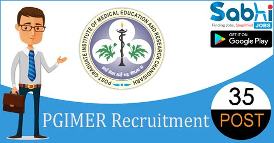 PGIMER Chandigarh recruitment 35 Assistant Professors