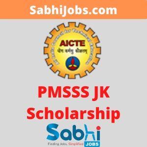 PMSSS JK Scholarship 2020
