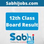 12th Class Board Result 2020