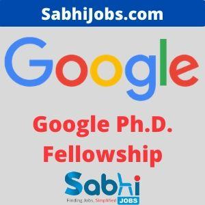 Google Ph.D. Fellowship 2020