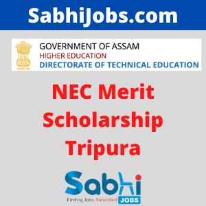 NEC Merit Scholarship Tripura