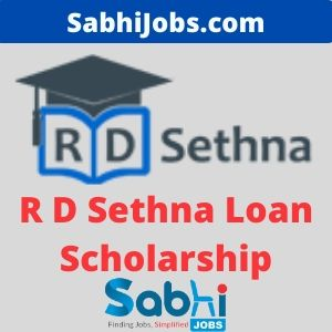 R D Sethna Loan Scholarship 2020