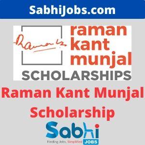 Raman Kant Munjal Scholarship 2020