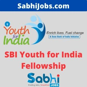 SBI Youth for India Fellowship 2020-21