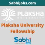 Plaksha University Tech Leaders Fellowship 2020