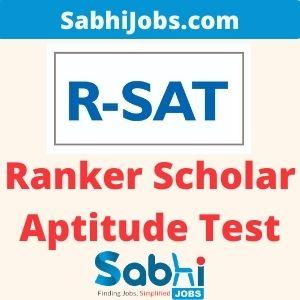 Ranker Scholar Aptitude Test 2020