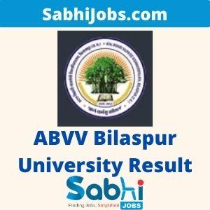 ABVV Bilaspur University Result