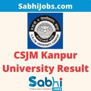 CSJM Kanpur University Result 2020