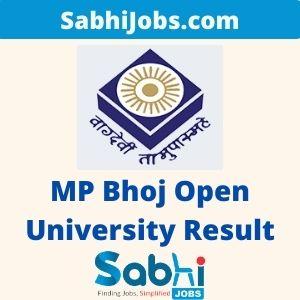 MP Bhoj Open University Result 2020